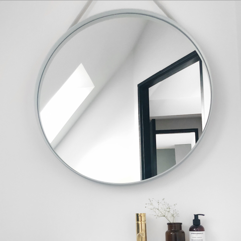 Bilde av Strap Mirror Grey 50 cm HAY