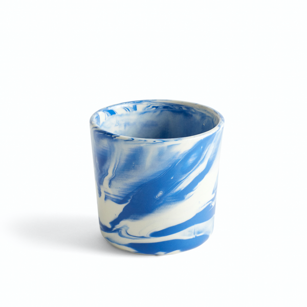 Marbled cup Blue