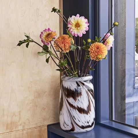 Bilde av Vase Splash Coffee & White L