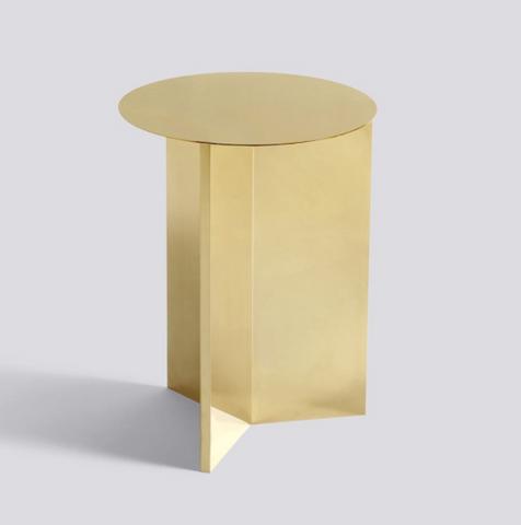 Bilde av Slit Table High Brass HAY