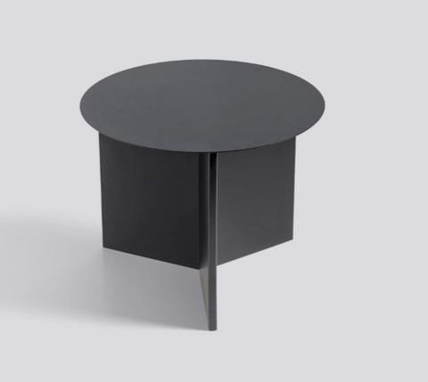 Bilde av Slit Table Round Black HAY