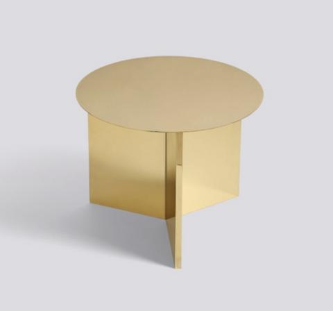 Bilde av Slit Table Round Brass HAY