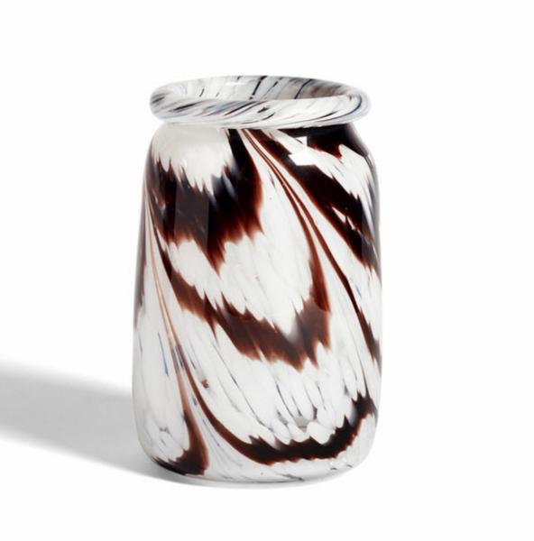 Vase Splash Coffee & White L