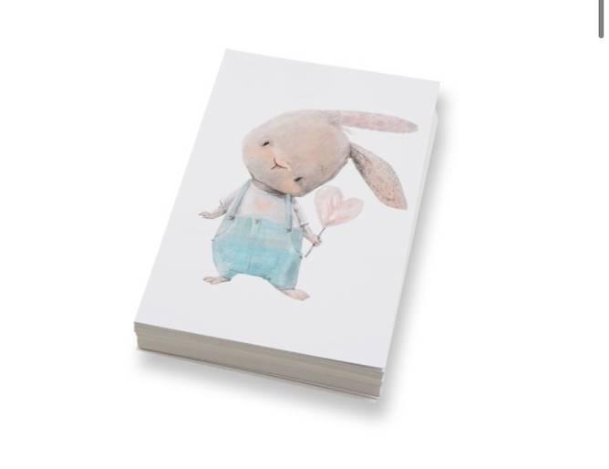 Bilde av Kanin med hjerte   10x15 cm