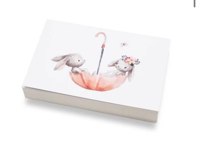 Bilde av Kaniner i paraply | 10x15 cm