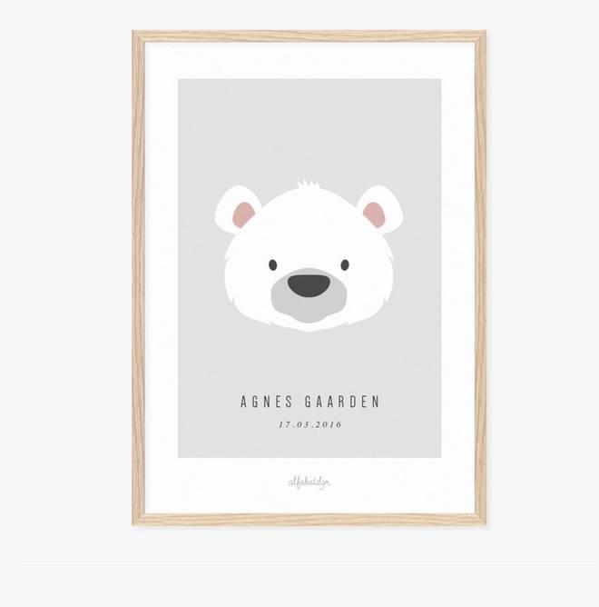 Bilde av Isbjørnen navnplakat