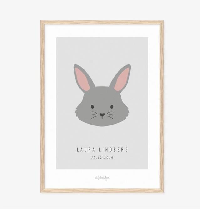 Bilde av Kaninen navneplakat
