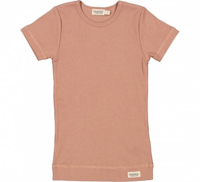 Bilde av Plain modal t shirt ROSE BROWN