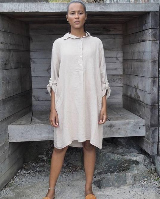 Bilde av Matilde linen dress beige/sand