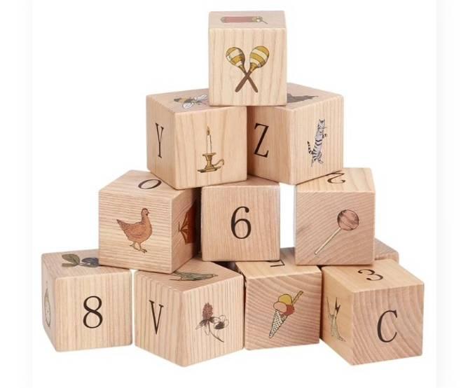 Bilde av Wooden blocks multi