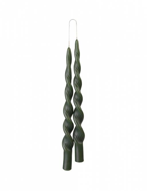 Bilde av Twisted candle FOREST GREEN