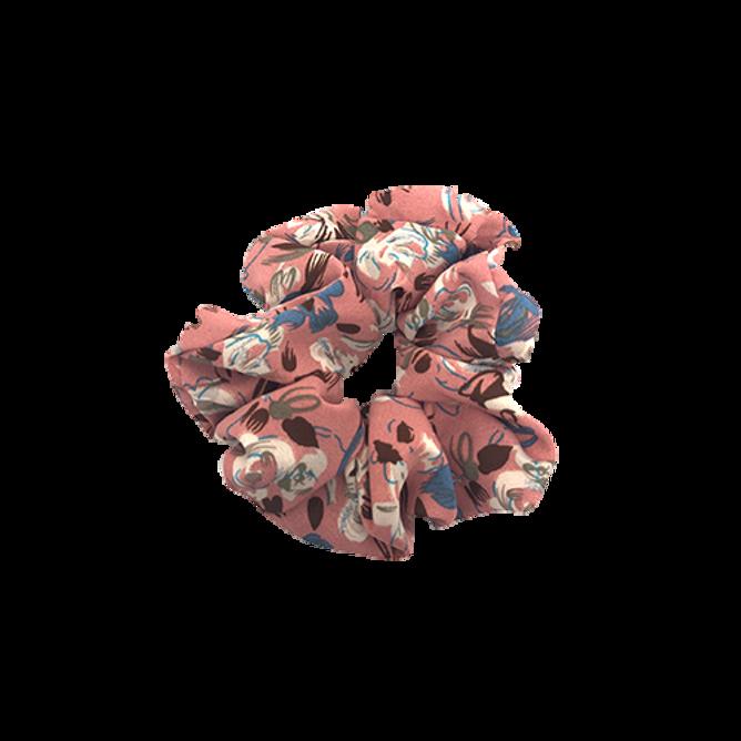 Bilde av scrunchie rosa med blader