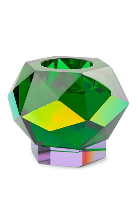 Bilde av Glam green krystal lysestake