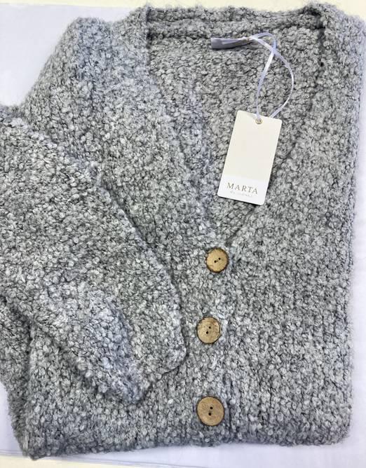 Bilde av Grey knit cardigan