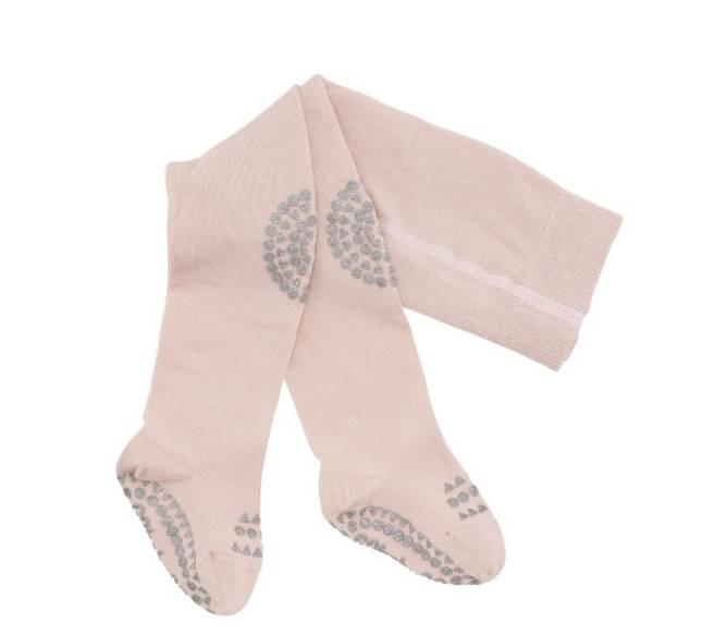 Bilde av Antiskli strømpebukse soft pink glitter