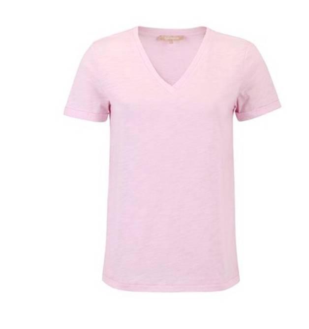 Bilde av Lily v-neck t-shirt mauve