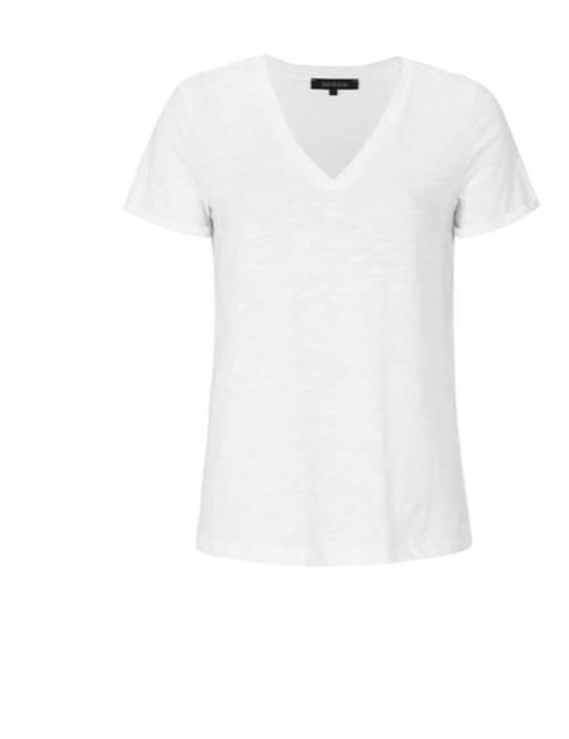 Bilde av Lily v-neck t-shirt off white