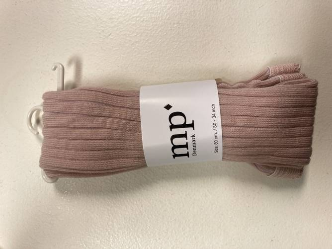 Bilde av Støvet rosa rib strømpebukse