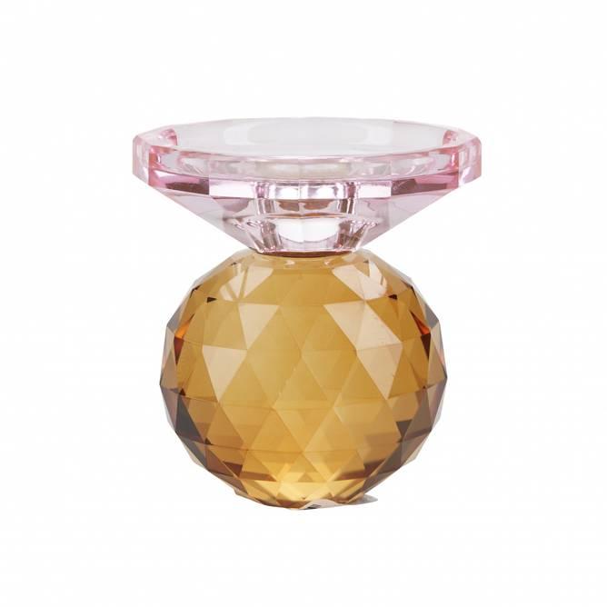 Bilde av ME crystal candle holder, 2 pa