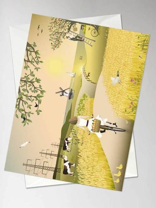 Bilde av  A FINE DAY - greeting card