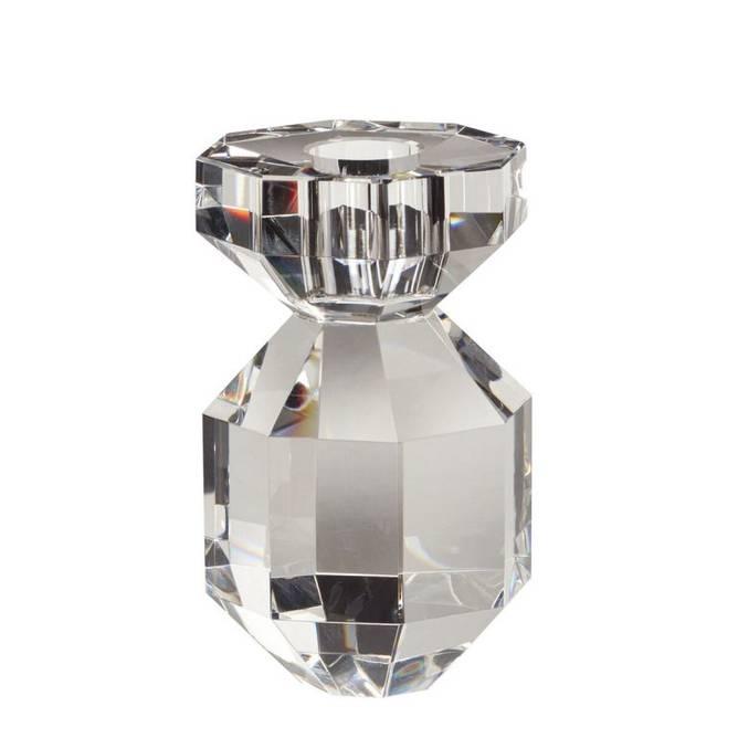 Bilde av Lysestage, krystal, klar