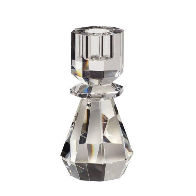 Bilde av Lysestage, krystal, klar 2