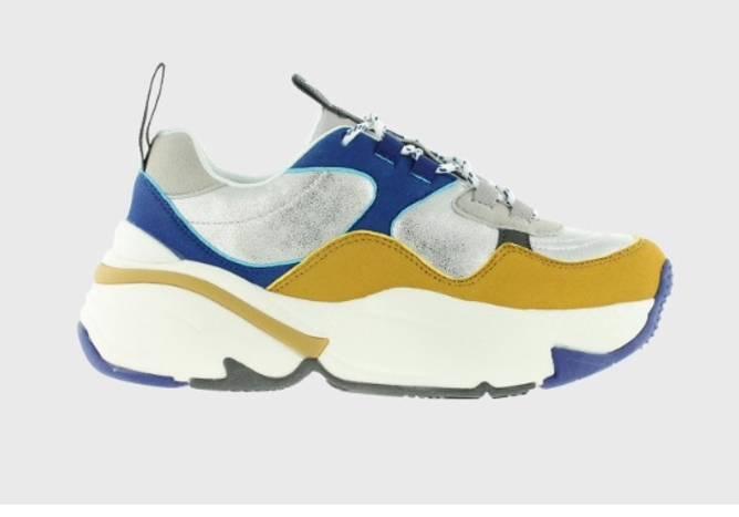 Bilde av blå sennep sko