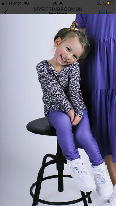 Bilde av Alma ls top purple flower kids