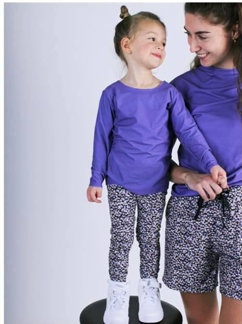 Bilde av Alma purple flower pants kids