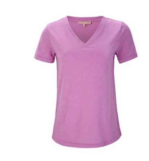 Bilde av Lily v-neck t-shirt pastel lavendel