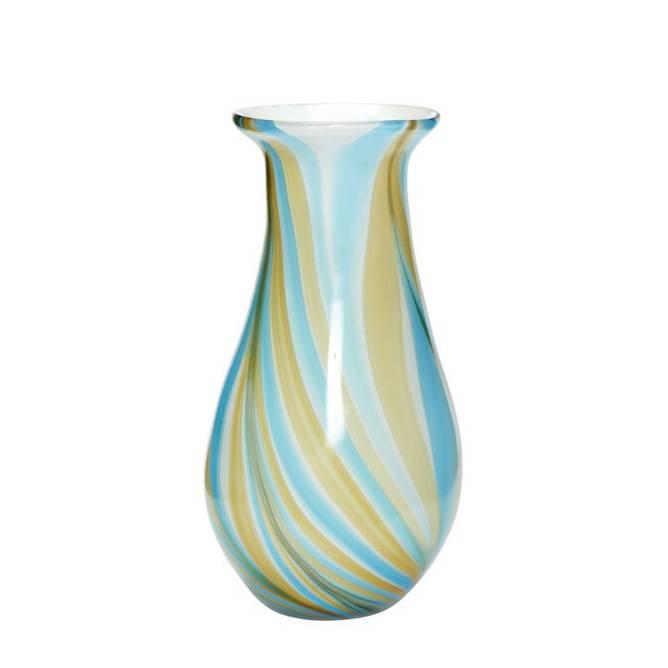 Bilde av Vase, glass, multi coloured blue