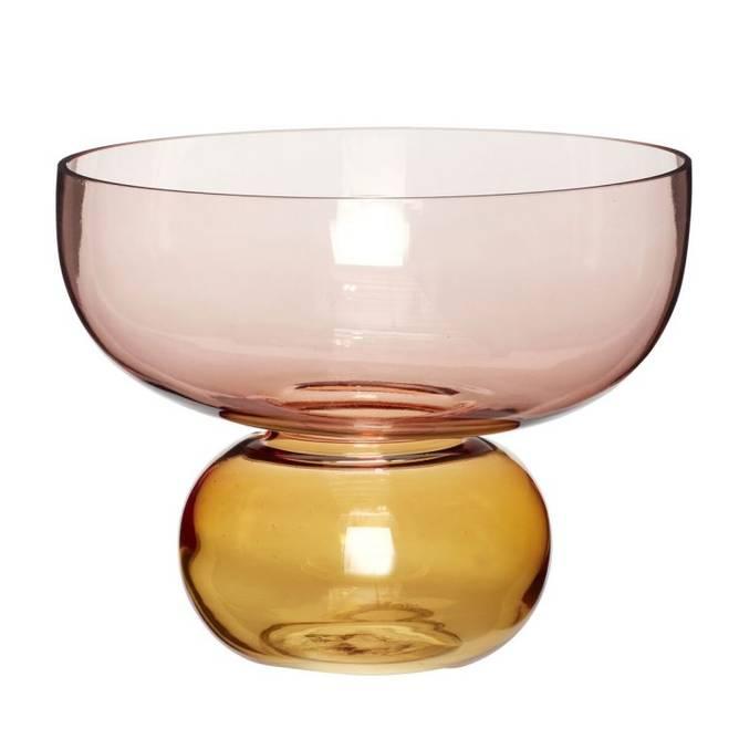 Bilde av Vase, glass, rosa/amber