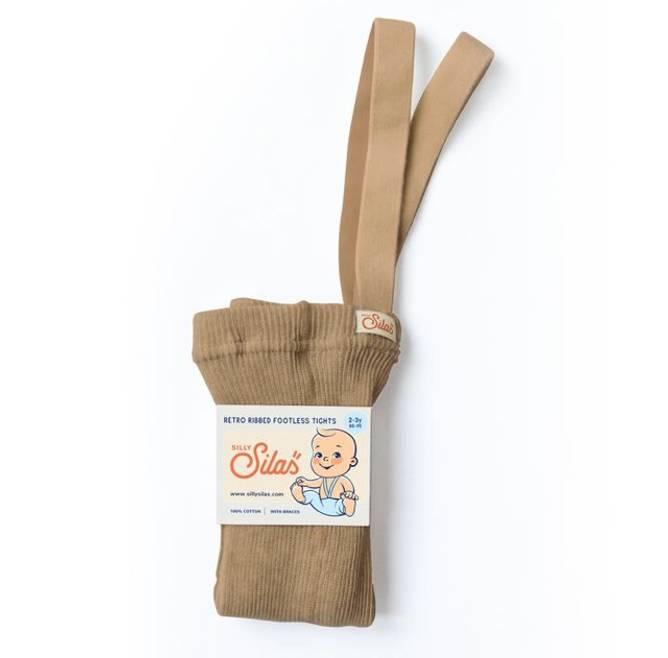 Bilde av Light brown strømpebukse med seler