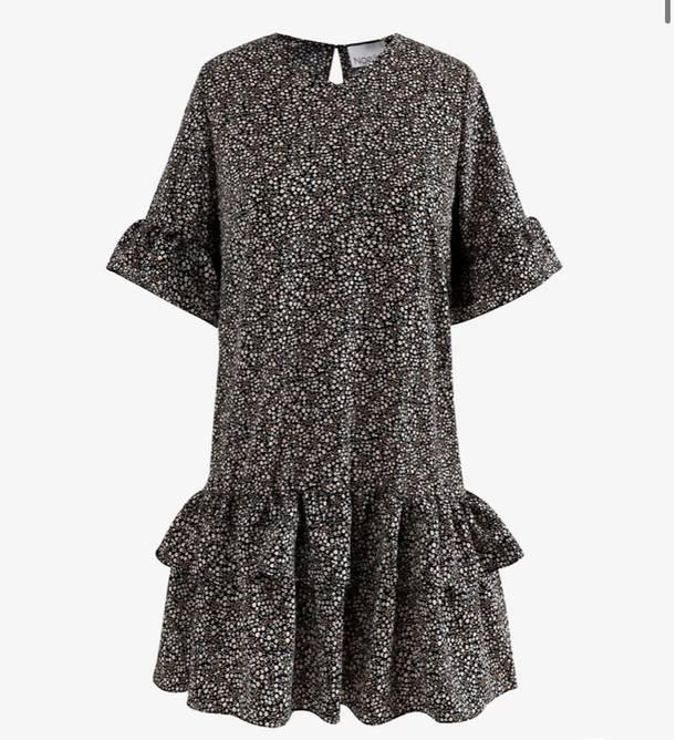 Bilde av Noella Rikka Dress Polyester Black Mini Flower