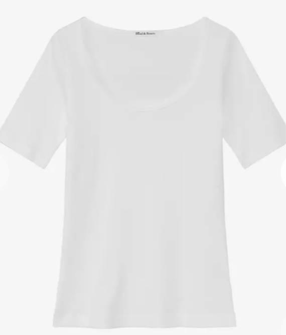 Bilde av T-shirt ribbed by Biderman white