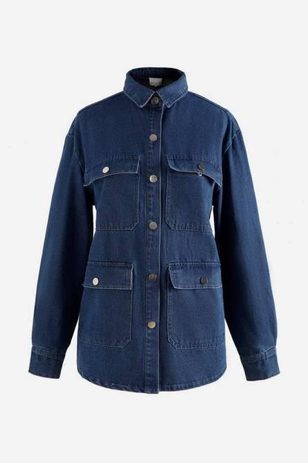 Bilde av Denim shirt jacket