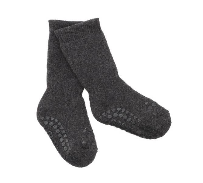 Bilde av Antiskli bomull sokker dark grey melange