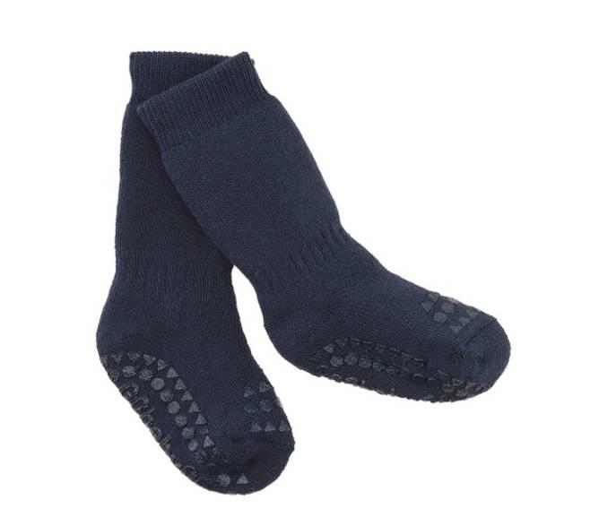 Bilde av Antiskli bomull sokker navy blue