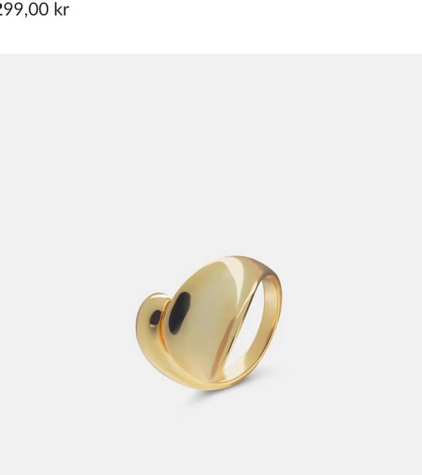 Bilde av Drop ring gold