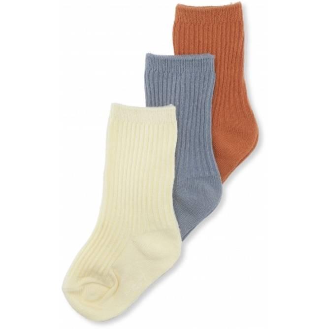 Bilde av BISQUIT/QUARRY BLUE/LEMON SORBET 3 pk sokker