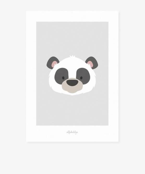 Bilde av Miniplakat pandaen