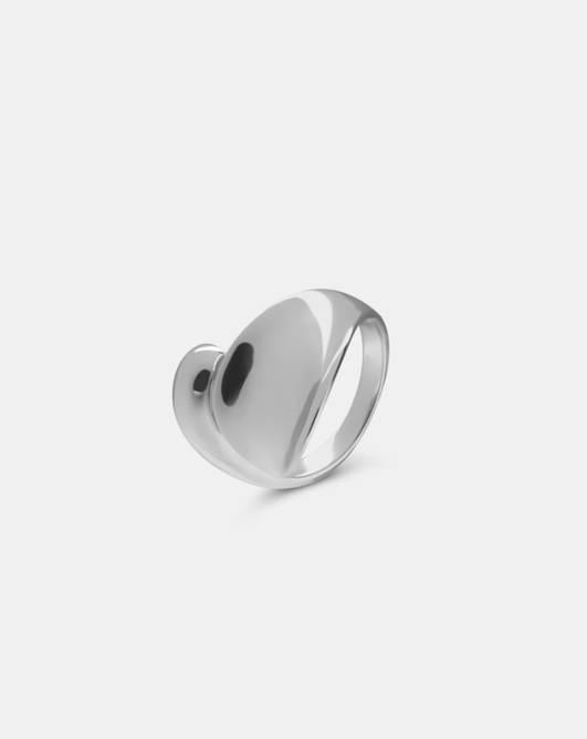 Bilde av Drop ring silver
