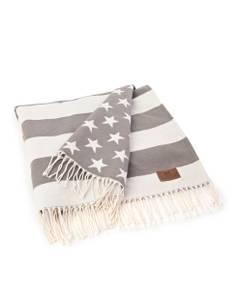 Bilde av LEXINGTON Flag Pledd beige/hvitt