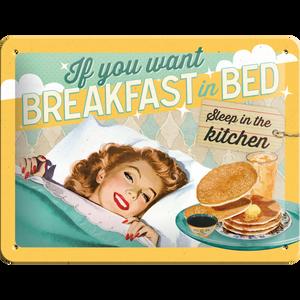 Bilde av Breakfast in bed skilt.