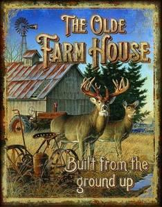 Bilde av Metallskilt Old farmhouse