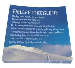 Bilde av Servietter fjellvettregler