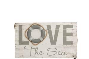 Bilde av Treskilt Love the sea
