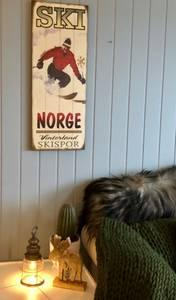 Bilde av Trebilder  Vinterland og skispor.35x91