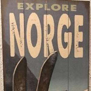 Bilde av Utsolgt. Trebilde NORGE. 35x91