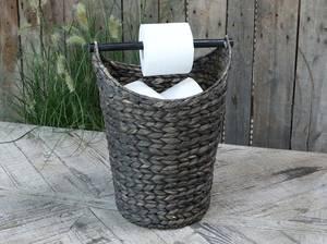 Bilde av Kurv med toalettpapirholder. Sort